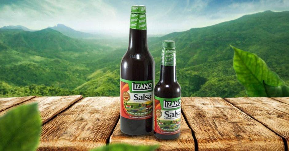 vemos una botella salsa lizano