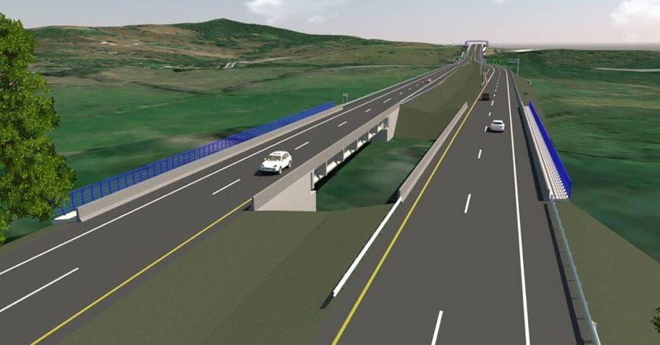 Render de carretera ampliada a cuatro carriles