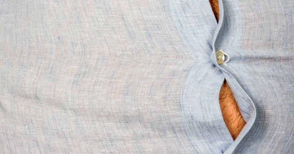 Botón de camisa apunto de soltarse