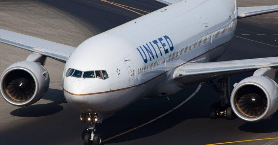 Un avión de United Arilines