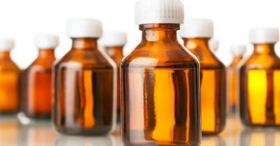 frascos de dióxido de cloro