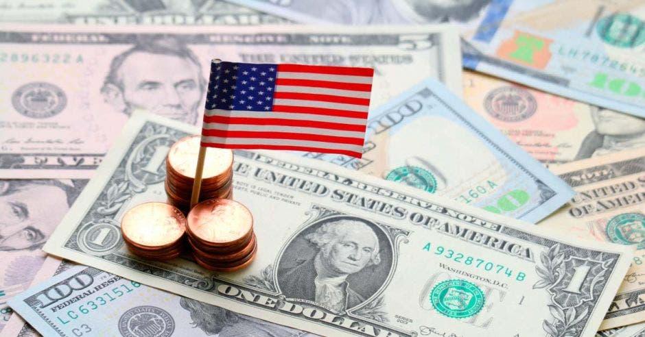 centavos sobre billetes de 1 dolar