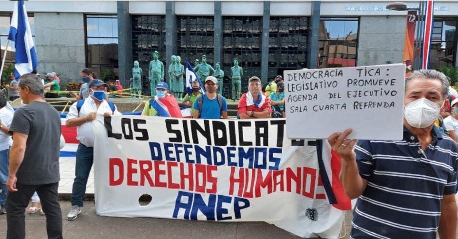 El movimiento de protesta es organizado por los exdiputados José Miguel Corrales y Célimo Guido, quienes se presentan como líderes del grupo Rescate Nacional. Archivo/La República.