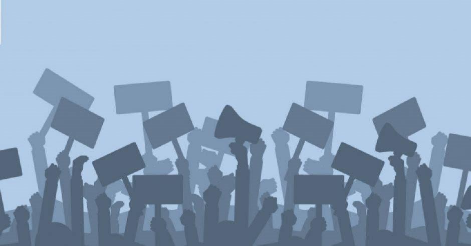 Un dibujo de una huelga