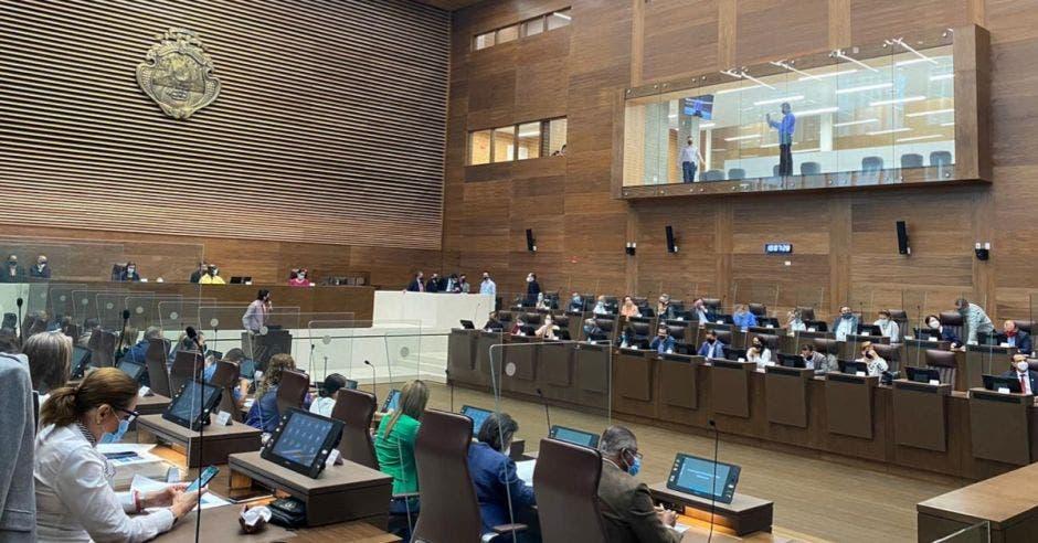 Hoy los diputados ingresaron al plenario. Cortesía/La República.