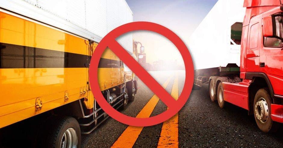 Camiones y signo de negación
