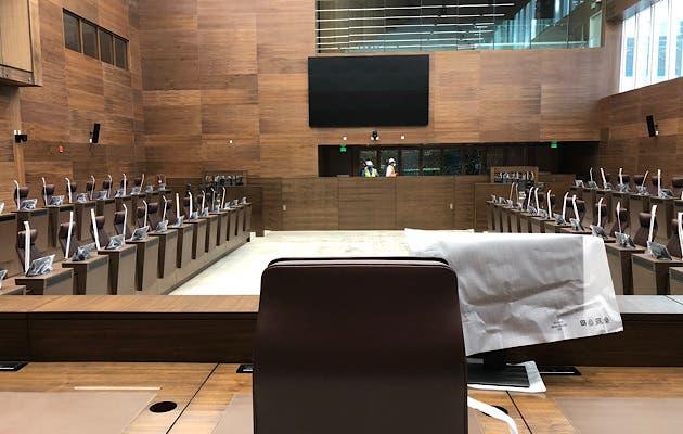 El plenario se ubicarán en el piso más bajo del edificio; con el objetivo de lanzar una señal de que el pueblo está por encima de ellos. Cortesía/La República