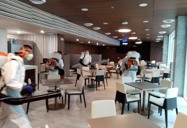 Las instalaciones del comedor fueron limpiadas con más cuidado por el alto tráfico de personas. Cortesía/La República