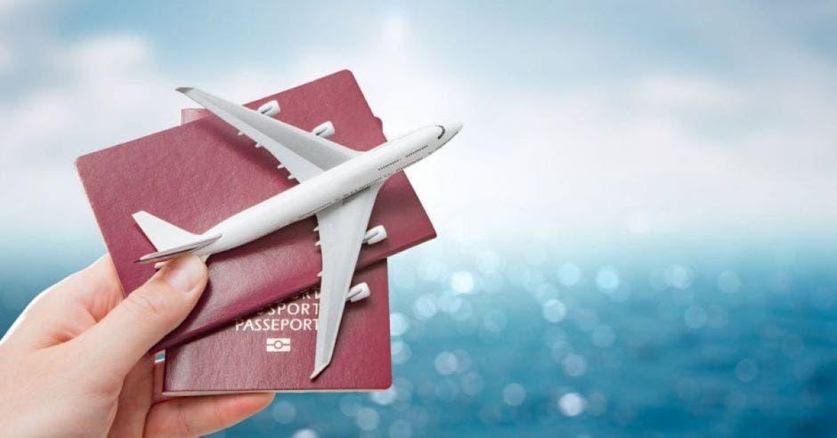 aviones y pasaporte pequeño
