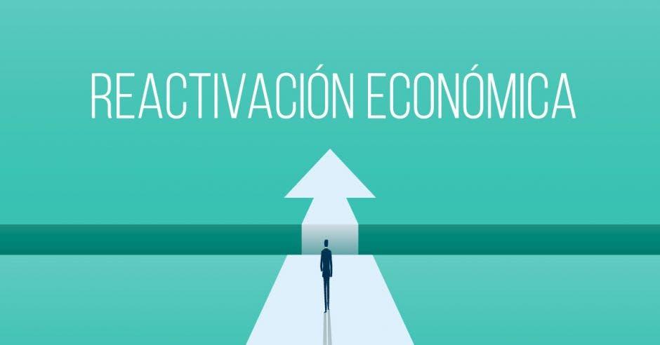 Flecha hacia reactivación económica