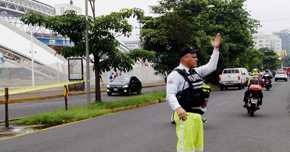 policia de transito en la Sabana