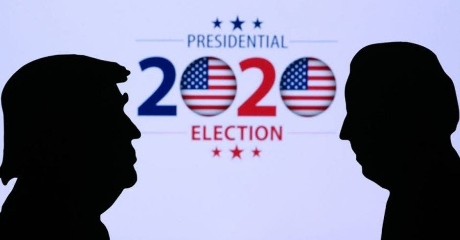 Siluetas de candidatos presidenciales estadounidenses