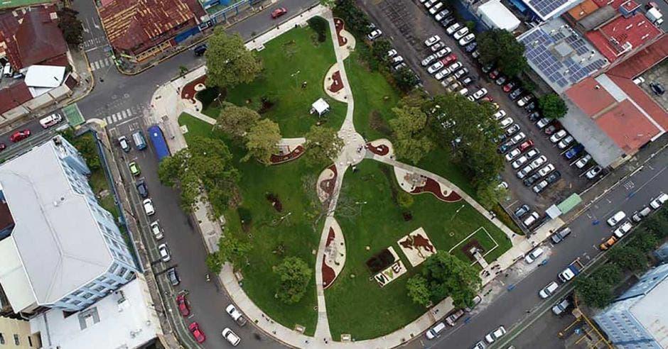 Toma aérea del nuevo parque
