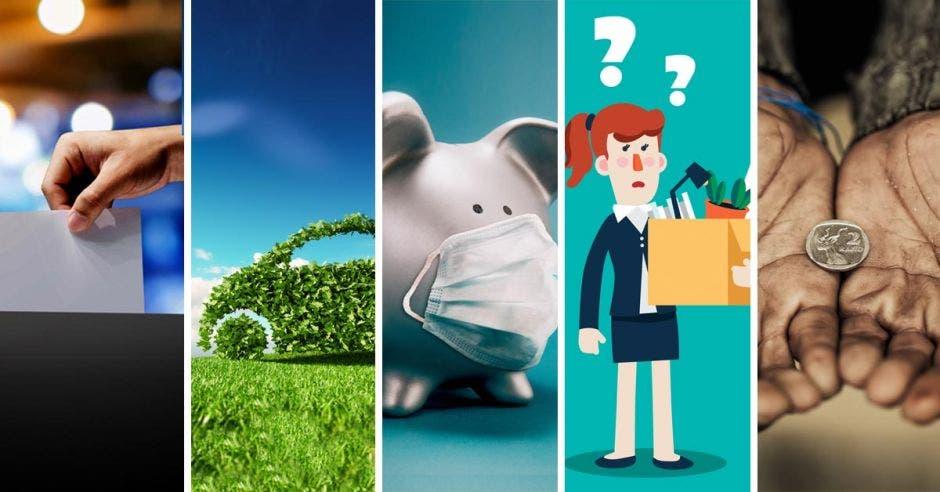 Diferentes dibujos de la economía
