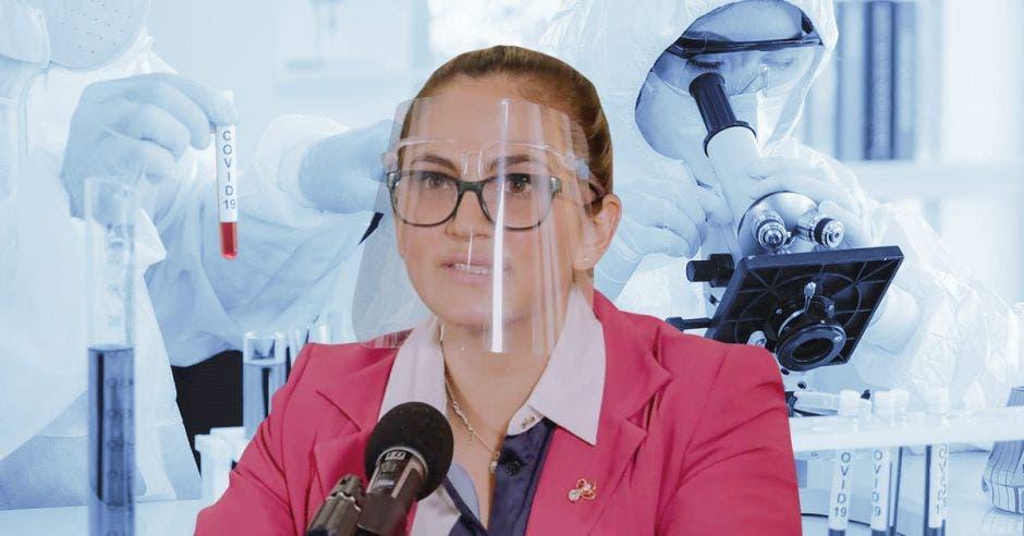 Angie Cervantes, microbióloga y asesora Institucional para el Diagnóstico de Laboratorio para Covid-19.