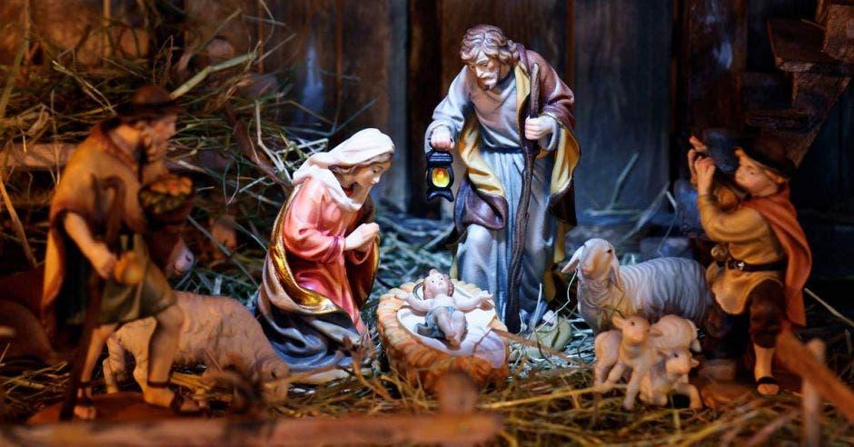 Escena de natividad de Jesús