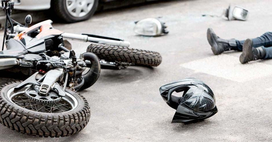 Una moto tras un accidente