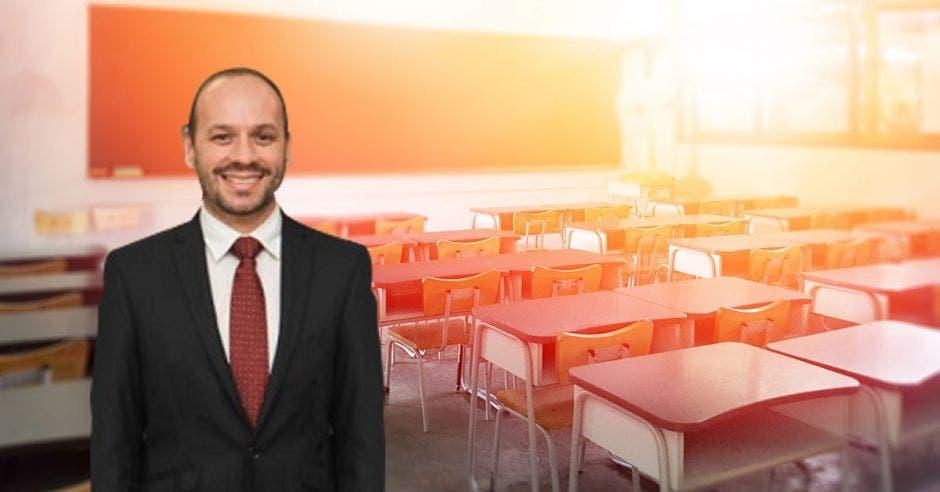 Steven González, viceministro a.i. del Ministerio de Educación Pública. Cortesía/La República.