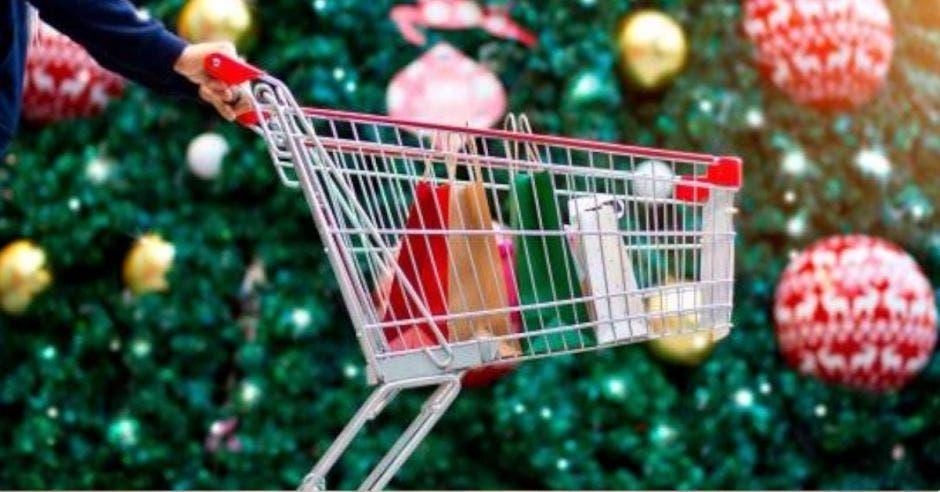 carrito de compras navideñas