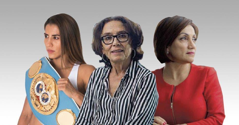 La boxeadora Yokasta Valle, la exministra de la Condición de la mujer Patricia Mora y Victoria Hernández, ministra de Economía, figuran en los primeros lugares. Archivo/La República.