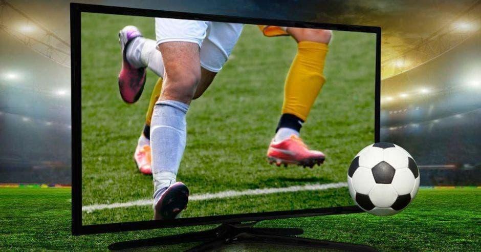 tele y futbol