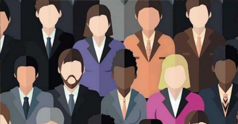 Dibujos de personas sin rostro