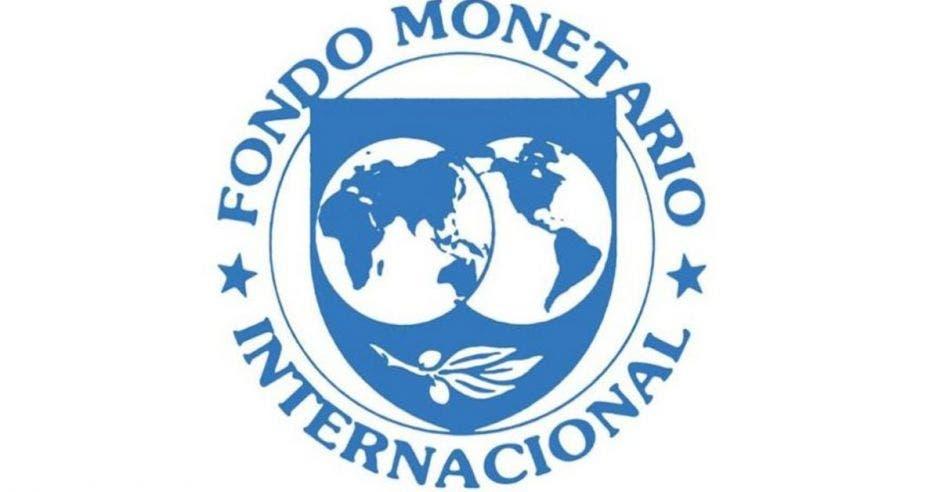 Logo del Fondo Monetario Internacional en color azul sobre fondo blanco