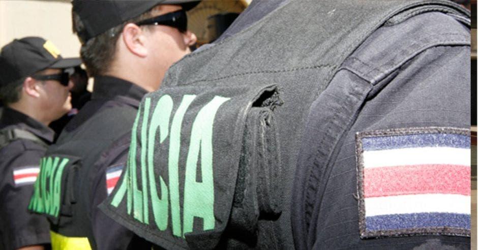 Foto de policías formados