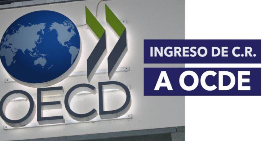 Logo OCDE junto a palabras Ingreso de C.R. a OCDE