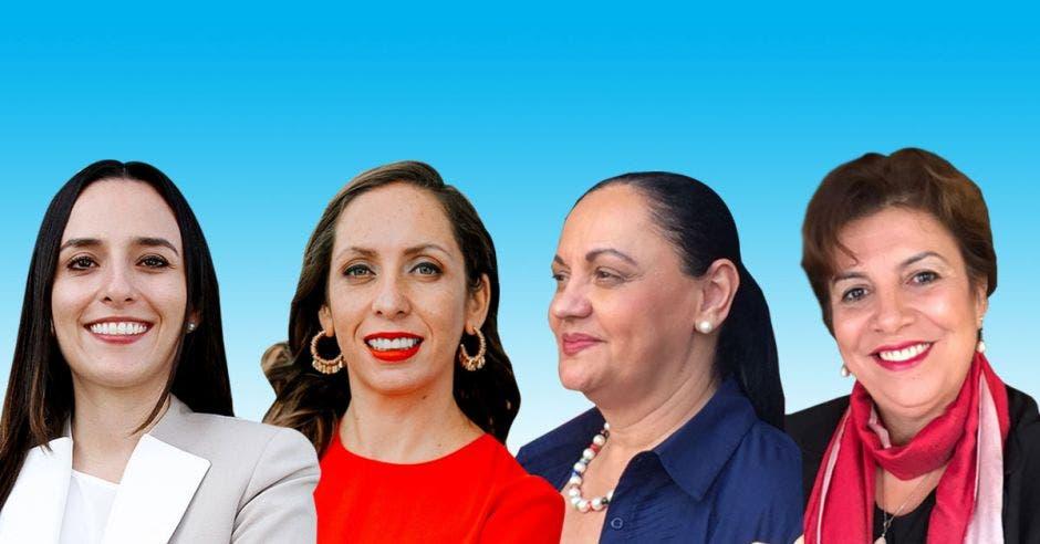 cuatro mujeres candidatas a la presidencia 2022
