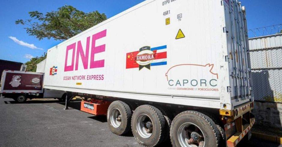 Contenedor de cerdo tico en exportación a China