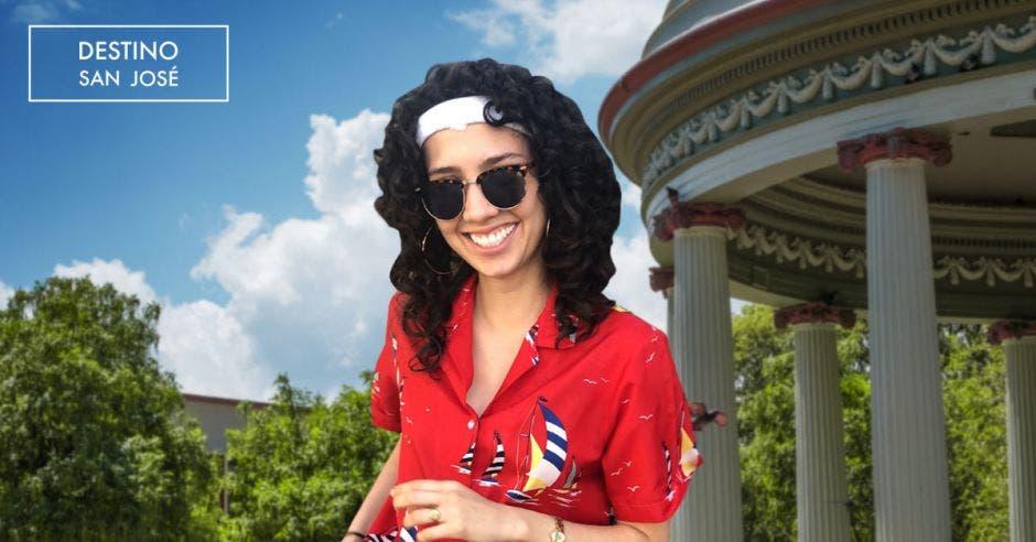 Vemos a Amanda Núñez en el Parque Morazán