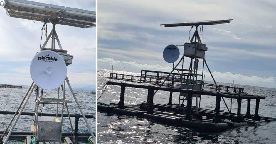 Conexión a Internet en granja marina