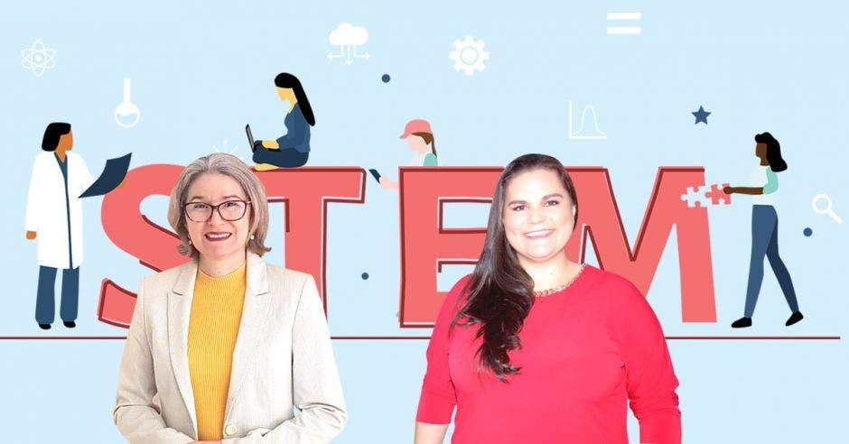 María del Carmen Gamboa, directora de Informática de la Universidad Castro Carazo y Ana María Morales. gerente de Ingeniería de Intel.