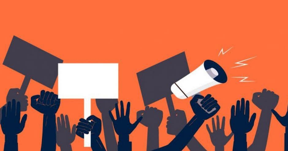 ilustración de protesta