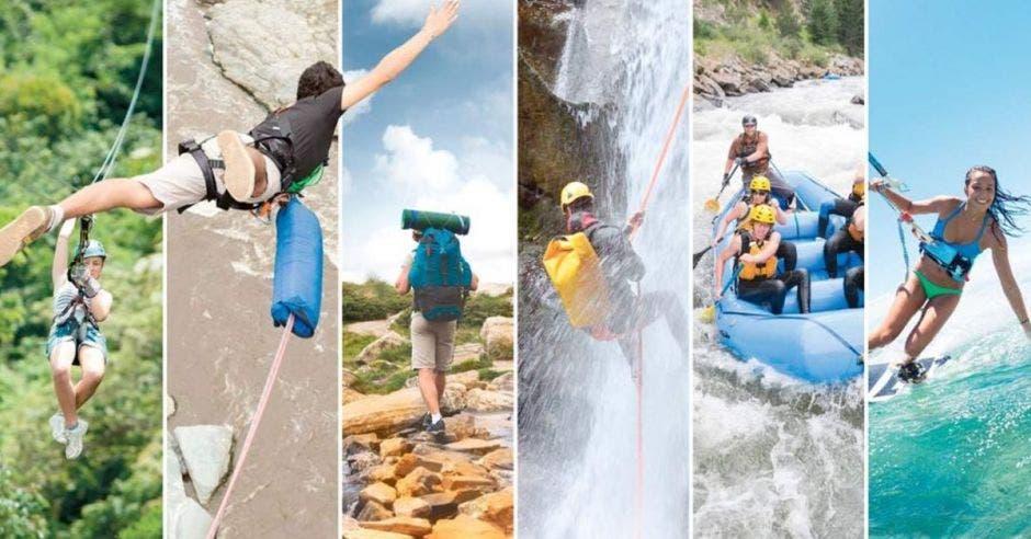 personas haciendo actividades de eco turismo