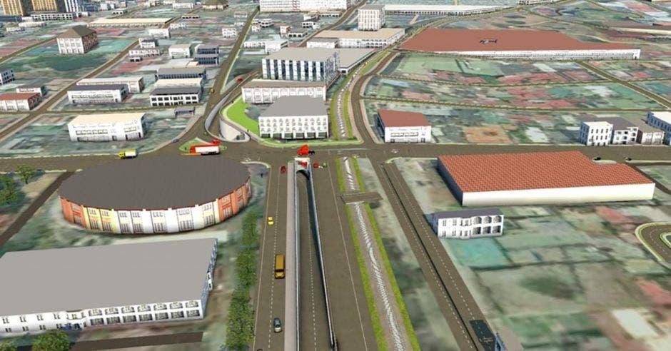 Render de cómo quedaría el túnel entre el Gimnasio Nacional y la Avenida 10'