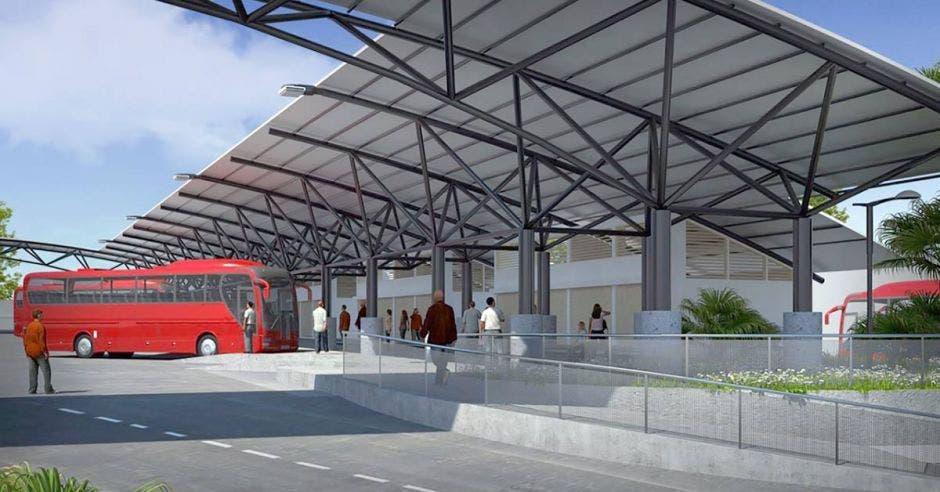 Render de cómo quedarán los andenes de la nueva terminal