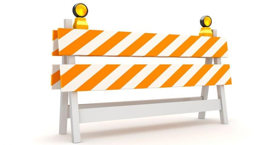 barrera de construcción