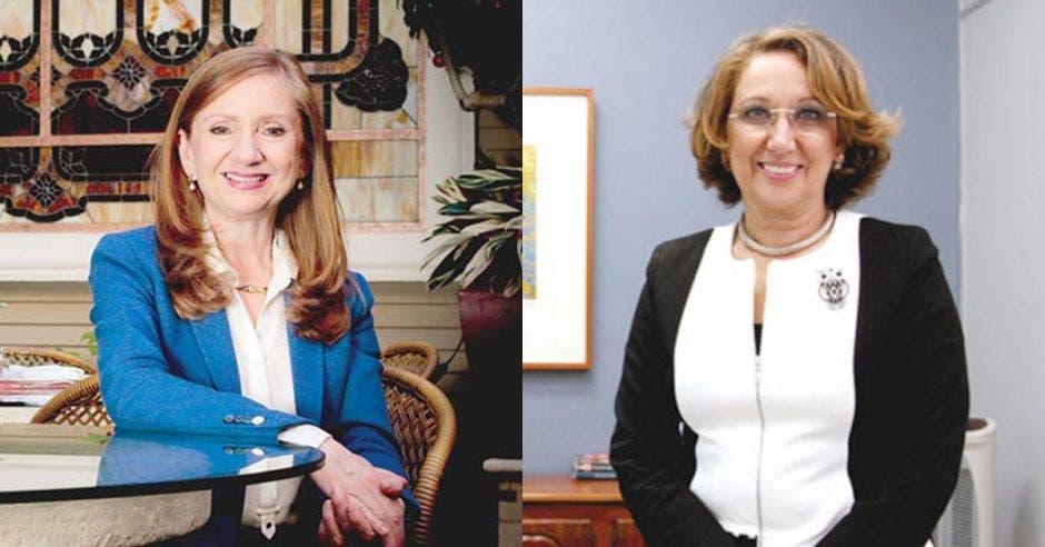 dos mujeres mayores de traje formal