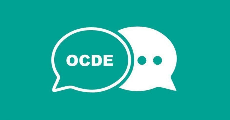 símbolos de diálogo con la palabra OCDE