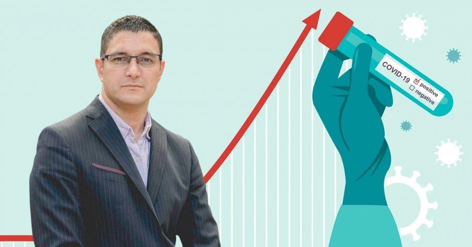 Daniel Salas y la curva de casos de Covid-19