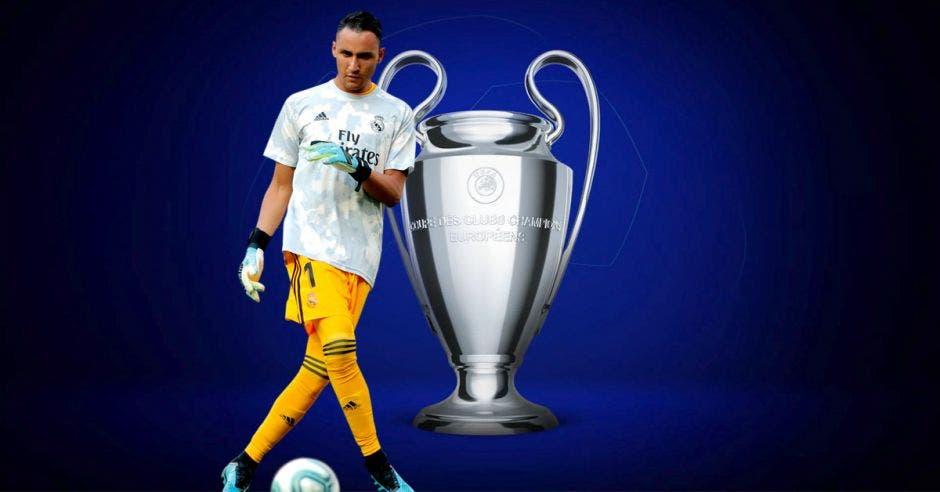 Keylor Navas va por su cuarta Champions League. PSG/La República