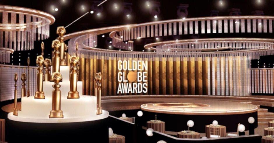 Escenario de los Golden Globes