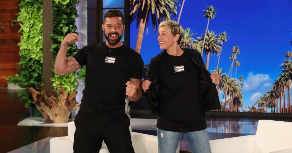 Ricky Martin en el show de Ellen DeGeneres