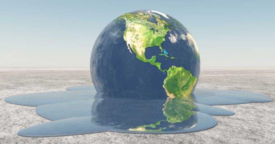 ilustración de la Tierra derritiéndose