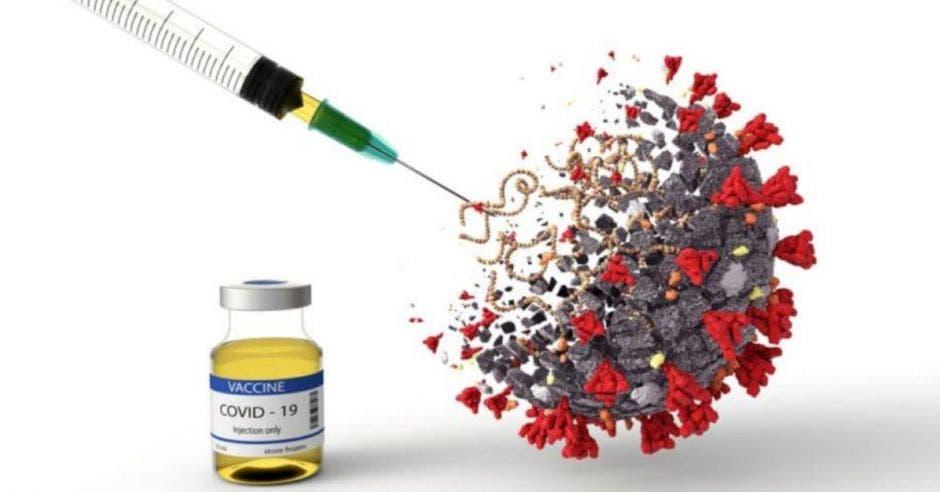 Una vacuna y el virus de la Covid-19
