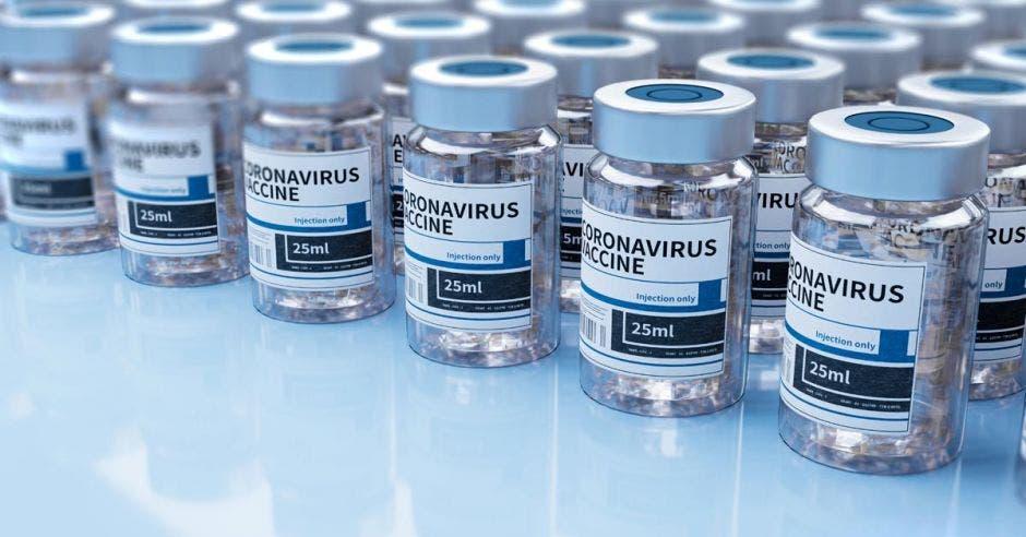 un conjunto de frascos de vacunas