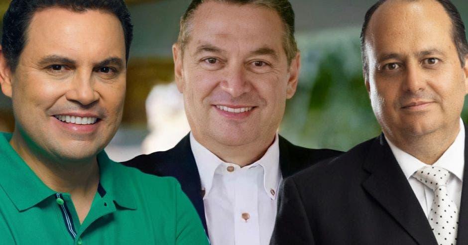 Claudio Alpízar, Carlos Ricardo Benavides y Roberto Thompson, aspirantes del Partido Liberación Nacional