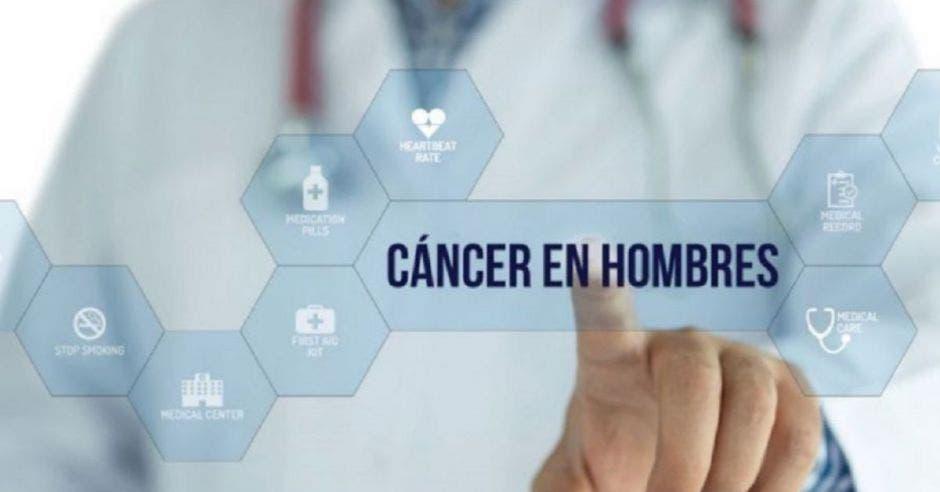 """oncólogo señalando la frase """"cáncer de hombres"""""""